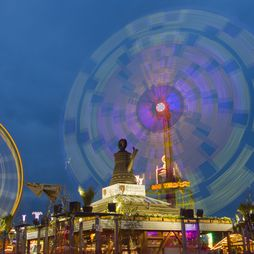 Funfair rides and stalls